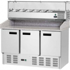 Stół chłodniczy do pizzy 3-drzwiowy<br />model: 843032<br />producent: Stalgast