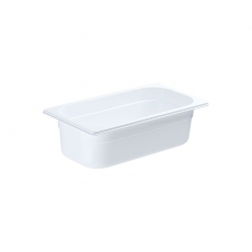 Pojemnik GN 1/3  gł. 10 cm z białego poliwęglanu<br />model: 183101/W<br />producent: Stalgast