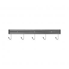 Listwa magnetyczna z haczykami dł. 45 cm<br />model: 248458<br />producent: Stalgast
