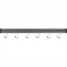 Listwa magnetyczna z haczykami dł. 62,5 cm<br />model: 248608<br />producent: Stalgast
