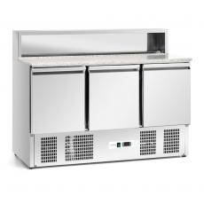 Stół chłodniczy 3-drzwiowy do pizzy z nadstawką<br />model: FG07203/W<br />producent: Forgast