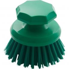 Ręczna szczotka okrągła zielona śr. 10 cm<br />model: 622332<br />producent: Stalgast