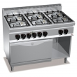 Kuchnia gazowa 6-palnikowa z piekarnikiem elektrycznym GN 2/1  - 18607600