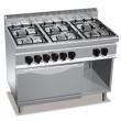 Kuchnia gazowa 6-palnikowa z piekarnikiem elektrycznym GN 2/1 PC7001