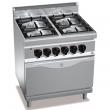 Kuchnia gazowa 4-palnikowa z piekarnikiem elektrycznym GN 2/1  - 18705000
