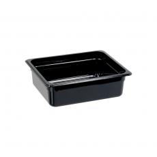 Pojemnik GN 1/2, gł. 10 cm z czarnego poliwęglanu<br />model: 152102<br />producent: Stalgast