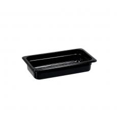 Pojemnik GN 1/3, gł. 6,5 cm z czarnego poliwęglanu<br />model: 153062<br />producent: Stalgast