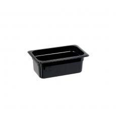 Pojemnik GN 1/4, gł. 10 cm z czarnego poliwęglanu<br />model: 154102<br />producent: Stalgast