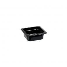 Pojemnik GN 1/6, gł. 10 cm z czarnego poliwęglanu<br />model: 156102<br />producent: Stalgast