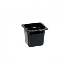 Pojemnik GN 1/6, gł. 15 cm z czarnego poliwęglanu<br />model: 156152<br />producent: Stalgast