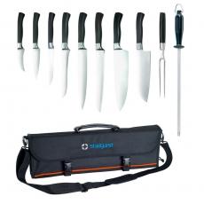 Zestaw noży kutych Elite w pokrowcu<br />model: 200006<br />producent: Stalgast