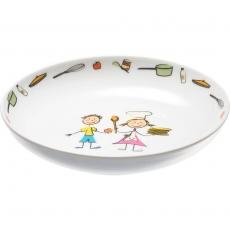 Talerz porcelanowy głęboki przedszkolny śr. 20 cm<br />model: 395955<br />producent: Stalgast