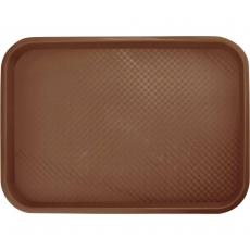 Taca fast food brązowa wym. 25x35 cm<br />model: 413256<br />producent: Stalgast