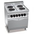 Kuchnia elektryczna 4-płytowa z piekarnikiem GN 2/1 - 18724000