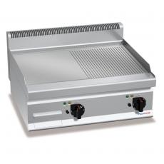 Płyta grillowa gładko-ryflowana elektryczna nastawna<br />model: PC7013<br />producent: ProfiChef