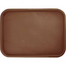 Taca fast food brązowa wym. 30x40 cm<br />model: 413306<br />producent: Stalgast