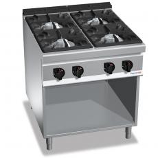 Kuchnia gazowa 4-palnikowa z szafką<br />model: PC9009<br />producent: ProfiChef