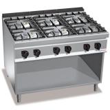Kuchnia gazowa 6-palnikowa z szafką PC9014
