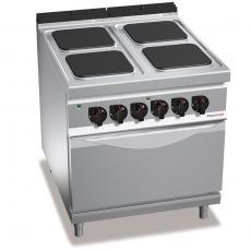 Kuchnia elektryczna 4-płytowa z piekarnikiem GN 2/1<br />model: PC9008<br />producent: ProfiChef