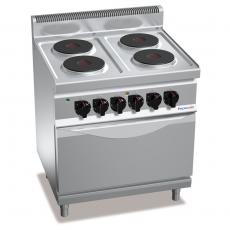 Kuchnia elektryczna 4-płytowa z piekarnikiem GN 2/1<br />model: PC7006<br />producent: ProfiChef