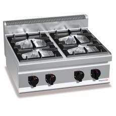 Kuchnia gazowa 4-palnikowa nastawna<br />model: PC7007<br />producent: ProfiChef