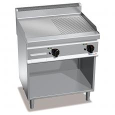 Płyta grillowa gładko-ryflowana gazowa<br />model: PC7011<br />producent: ProfiChef