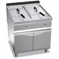 Frytownica elektryczna 2-komorowa z szafką 2x18 l<br />model: PC9010<br />producent: ProfiChef