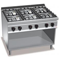 Kuchnia gazowa 6-palnikowa z szafką<br />model: PC9014<br />producent: ProfiChef