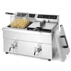 Frytownica indukcyjna 2-komorowa Kitchen Line 2x8 l<br />model: 215029<br />producent: Hendi