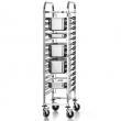 Wózek nierdzewny składany do transportu pojemników GN FG01101