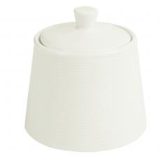 Cukiernica z pokrywą porcelanowa śr. 10 cm Line<br />model: 04ALM002177<br />producent: Porland