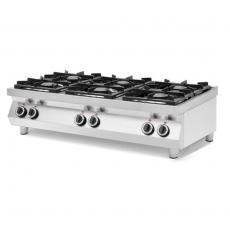 Kuchnia gazowa 6-palnikowa stołowa Kitchen Line<br />model: 227398<br />producent: Hendi