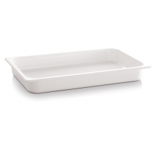 Pojemnik GN 1/4 gł. 6,5 cm z melaminy biały<br />model: 83751<br />producent: APS