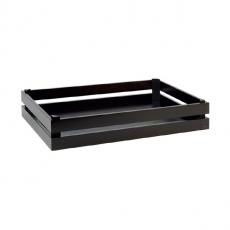 Prezenter bufetowy drewniany GN 1/1 SUPER BOX czarny<br />model: 11626<br />producent: APS