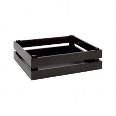 Prezenter bufetowy drewniany GN 1/2 SUPER BOX czarny<br />model: 11627<br />producent: APS