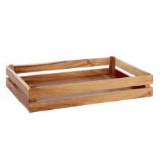 Prezenter bufetowy drewniany GN 1/1 SUPER BOX akacja<br />model: 11620<br />producent: APS