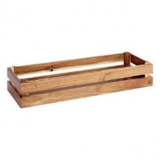 Prezenter bufetowy drewniany GN 2/4 SUPER BOX akacja<br />model: 11623<br />producent: APS