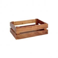 Prezenter bufetowy drewniany GN 1/4 SUPER BOX akacja<br />model: 11622<br />producent: APS