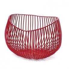 Kosz metalowy GIO czerwony<br />model: B7211275R<br />producent: Serax