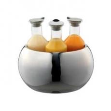 Karafka z tworzywa TRIPLET - 3 sztuki + miska<br />model: ESC 036 E 001<br />producent: Frilich