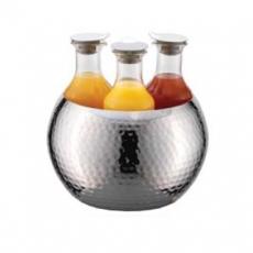 Karafka szklana TRIPLET - 3 sztuki + miska tłoczona<br />model: ESC 036 E 002<br />producent: Frilich