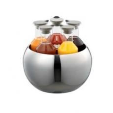 Karafka szklana QUINTET - 5 sztuk + miska<br />model: ESC 060 E<br />producent: Frilich