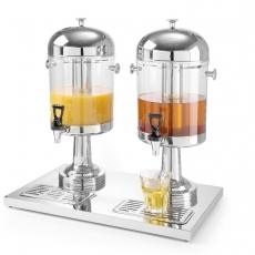 Dozownik do soków podwójny 2x8 l<br />model: 425411<br />producent: Hendi