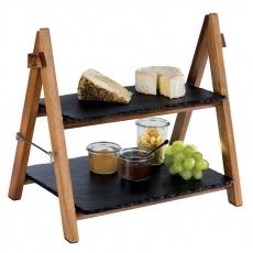 Stojak drewniany na płyty łupkowe SLATE<br />model: 958<br />producent: APS