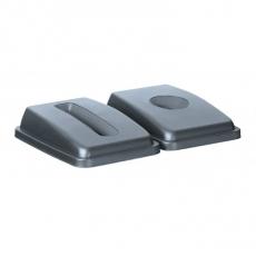 Pokrywa z otworem prostokątnym do pojemnika prostokątnego 60 l<br />model: 691144<br />producent: AmerBox