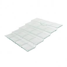 Schodki szklane - kaskada z przegrodami 4-stopniowa<br />model: 4455-5A85-96-001<br />producent: 3D