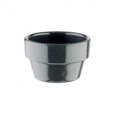 Mini naczynie FLOWER POT z melaminy czarne 40 ml<br />model: 84472<br />producent: APS