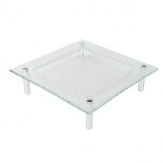 Patera szklana kwadratowa na nóżkach 40x40 cm<br />model: 4040-1001TT-26-001<br />producent: 3D