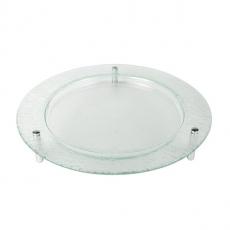 Patera szklana na nóżkach okrągła śr. 40 cm<br />model: 4000-1010TT-26-001<br />producent: 3D