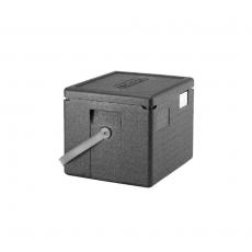 Pojemnik termoizolacyjny GoBox z czarnym paskiem<br />model: EPP280BKST<br />producent: Cambro
